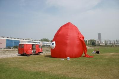 préparation du Monstre du Bassin de la Villette 2007